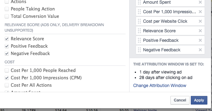 Facebook Ads Relevance Scores Reports