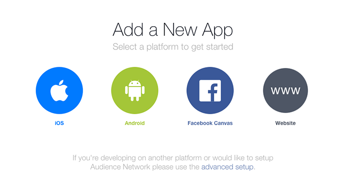 Facebook Add a New App