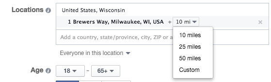 Facebook Location Targeting By Address