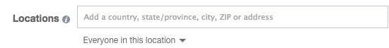 Facebook Location Targeting Everyone