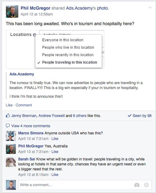 Facebook Location Targeting PHC