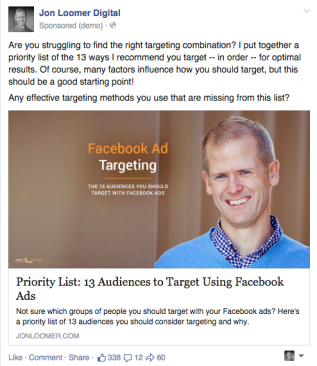 Facebook Ad Targeting Rejected