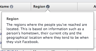 Facebook Ad Reports Region