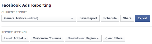 Facebook Customize Columns