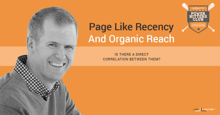 Page Like Recency Organic Reach