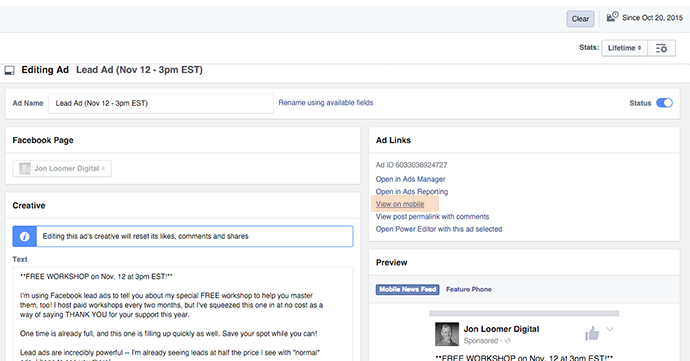 How to Create an Organic or Desktop Facebook Lead Ad - Power Hitters